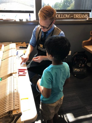 Mr. Joshua from Artisan Pianos Explaining How a Piano Works